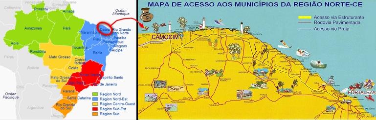 Carte Du Bresil Nordeste.Voyage Au Bresil Nordeste Trip Fortaleza Jericoacoara